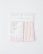 Deluxe Muslin Security Blanket 2 Pack - Pink Peony + Blush