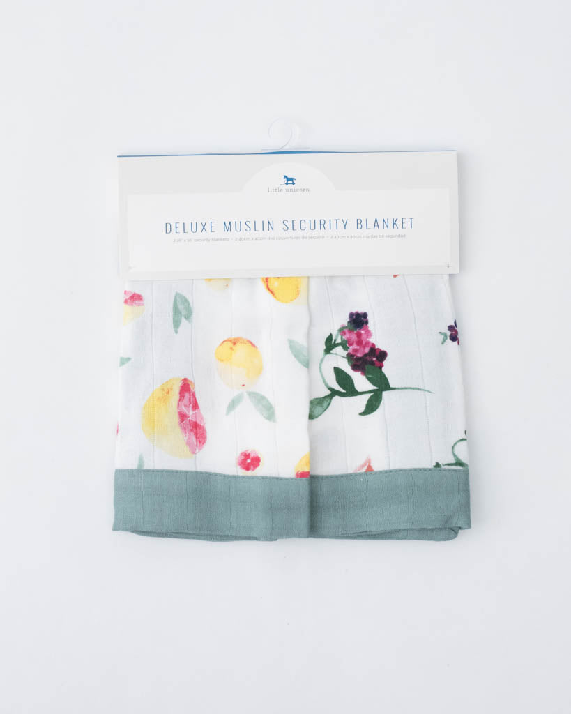 Deluxe Security Blankets - Grapefruit + Berry Patch