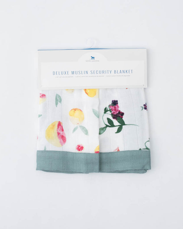 Deluxe Muslin Security Blanket 2 Pack - Grapefruit + Berry Patch