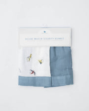 Deluxe Muslin Security Blanket 2 Pack - Gone Fishing + Spruce