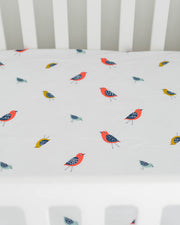 Percale Crib Sheet - Little Wings
