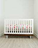 Percale Crib Sheet - Summer Poppy