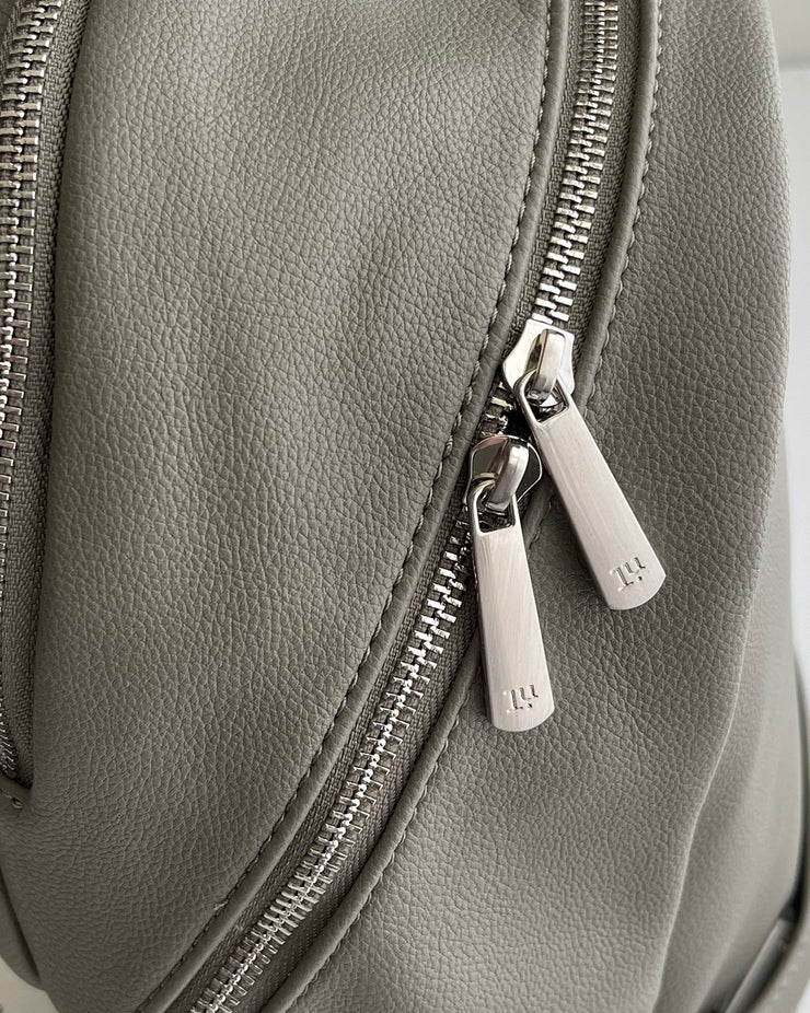 Skyline Backpack Grey Umber - Brushed Nickel Hardware