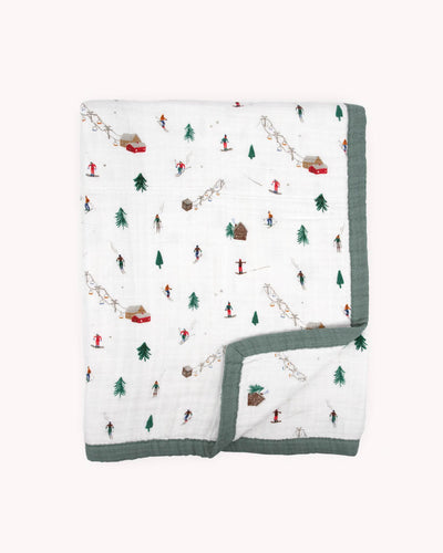 Cotton Muslin Quilt Big Kid - Powder Party