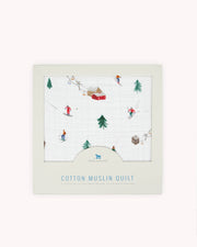 Cotton Muslin Quilt - Powder Party