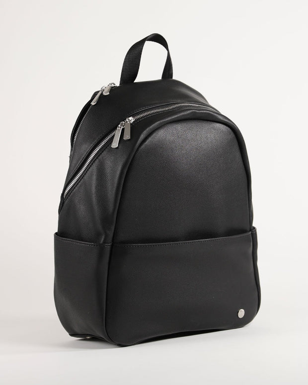Skyline Backpack Black - Brushed Nickel Hardware