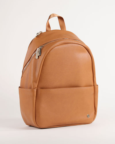 Skyline Backpack Cognac - Gold Hardware
