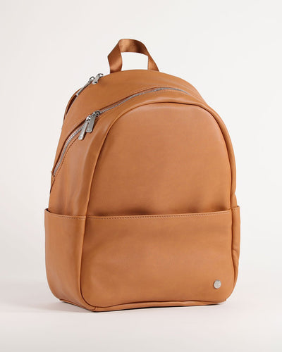 Skyline Backpack Cognac - Brushed Nickel Hardware