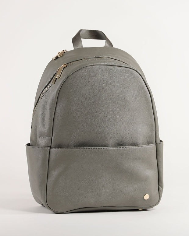 Skyline Backpack Grey Umber - Gold Hardware