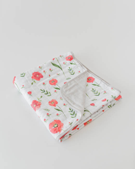 Brushed Muslin Quilt - Summer Poppy