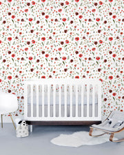 Removable Wallpaper - Summer Poppy