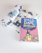 Matilda Swaddle Blanket + Softcover Book Gift Set