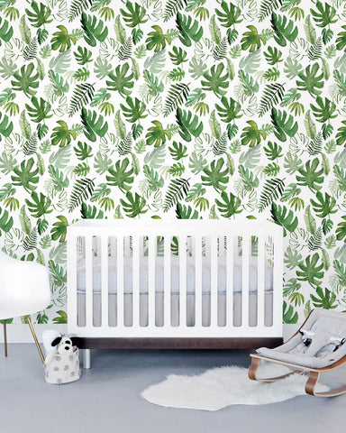 Removable Wallpaper - Tropical Leaf