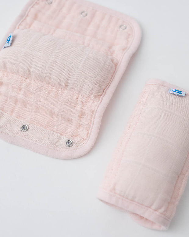 Cotton Muslin Strap Covers - Blush
