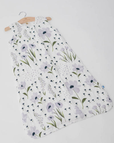Cotton Muslin Sleep Bag - Blue Windflower
