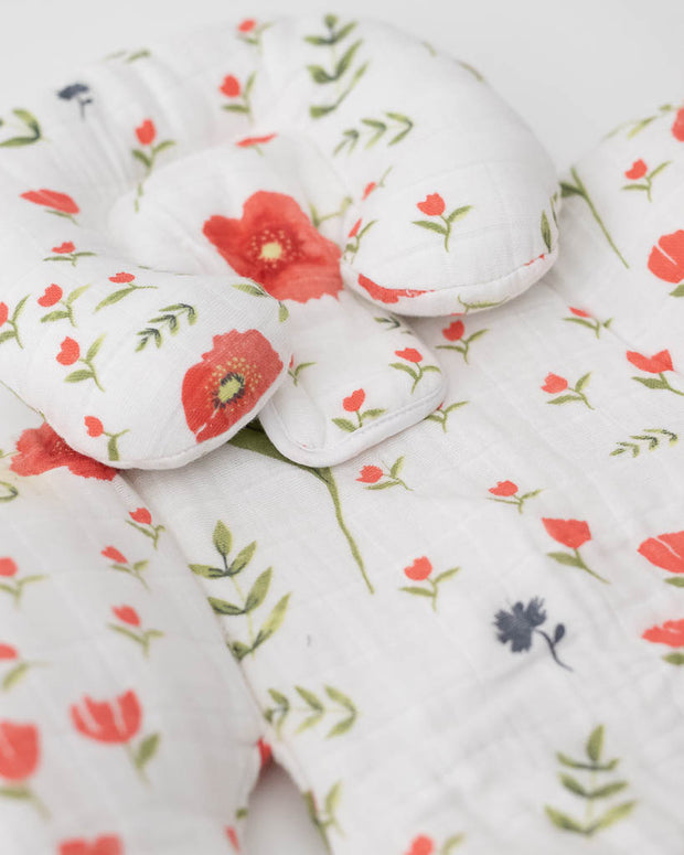 Cotton Muslin Body Support - Summer Poppy