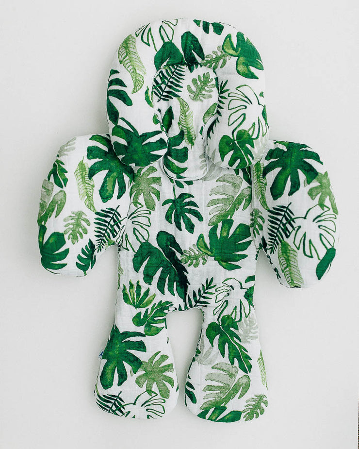 Cotton Muslin Body Support - Tropical Leaf