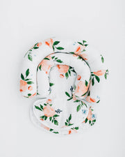 Cotton Muslin Head Support - Watercolor Roses