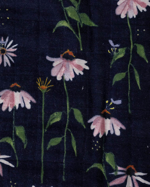 Cotton Muslin Quilt - Dark Coneflower