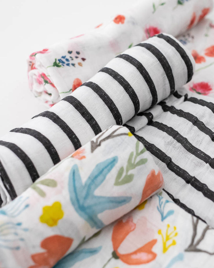 Cotton Muslin Swaddle 3 Pack - Wild Mums Set