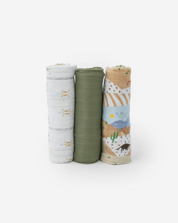 Cotton Muslin Swaddle Blanket Set - Desert Hills