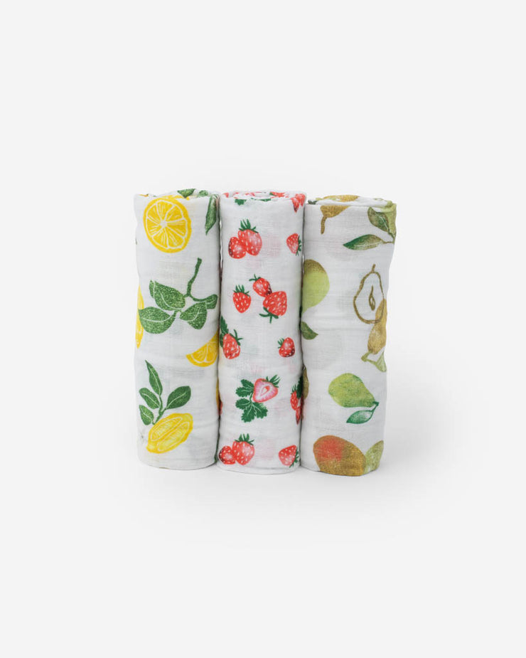 Cotton Muslin Swaddle Blanket Set - Fruit Stand