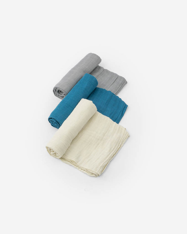 Cotton Muslin Swaddle Blanket Set - Lake