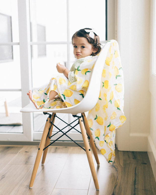 Cotton Muslin Swaddle Single - Lemon