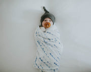 Cotton Muslin Swaddle Blanket Set - Shark 2