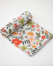 Cotton Muslin Swaddle Blanket - Primrose Patch
