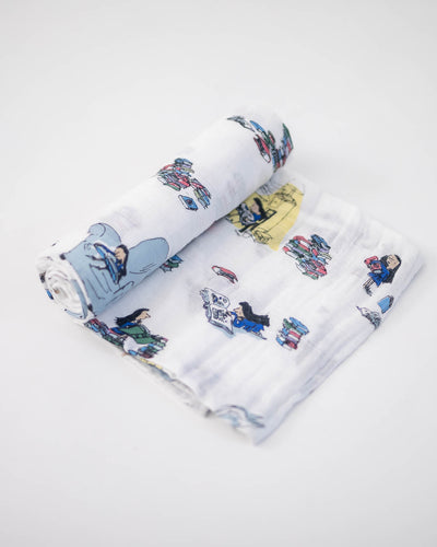 Cotton Muslin Swaddle Blanket - Matilda