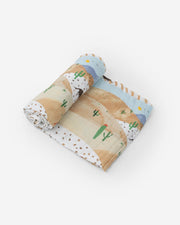 Cotton Muslin Swaddle Blanket - Desert Hills