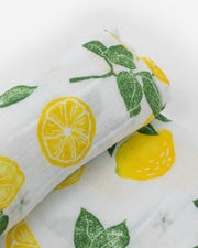 Cotton Muslin Swaddle Blanket - Lemon Drop