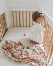 Cotton Muslin Swaddle Blanket Set - Vintage Floral