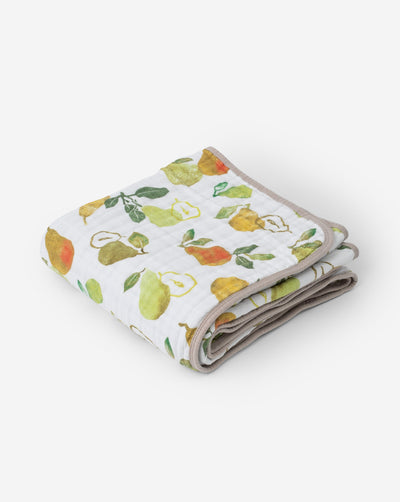 Cotton Muslin Baby Quilt - Peary Nice