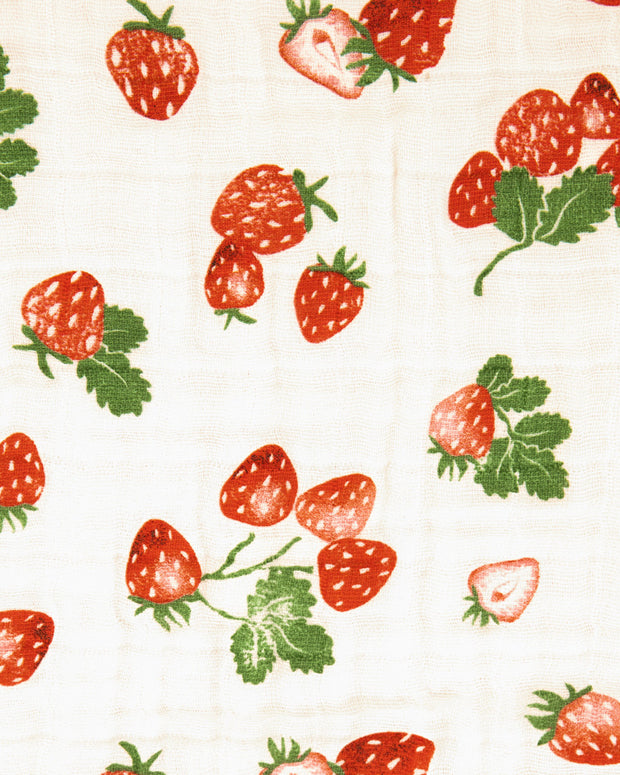 Cotton Muslin Quilt - Strawberry Patch
