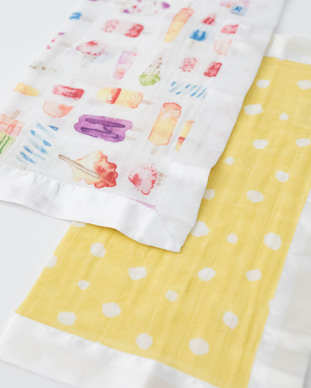 Cotton Muslin Security Blankets - Itsy Bitsy + Brain Freeze