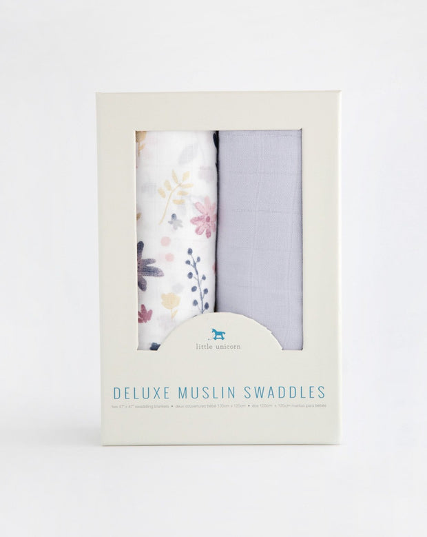Deluxe Muslin Swaddle Blanket Set - Fairy Garden 2