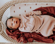 Deluxe Muslin Swaddle Blanket - Dusty Maroon