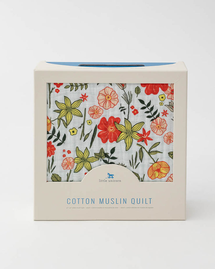 Cotton Muslin Baby Quilt - Primrose Patch