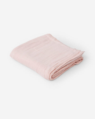 Deluxe Muslin Baby Quilt - Blush