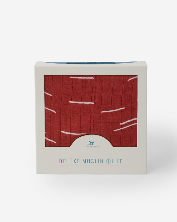 Deluxe Muslin Quilt - Baked Clay