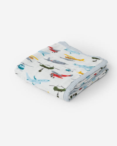 Deluxe Muslin Baby Quilt - Air Show
