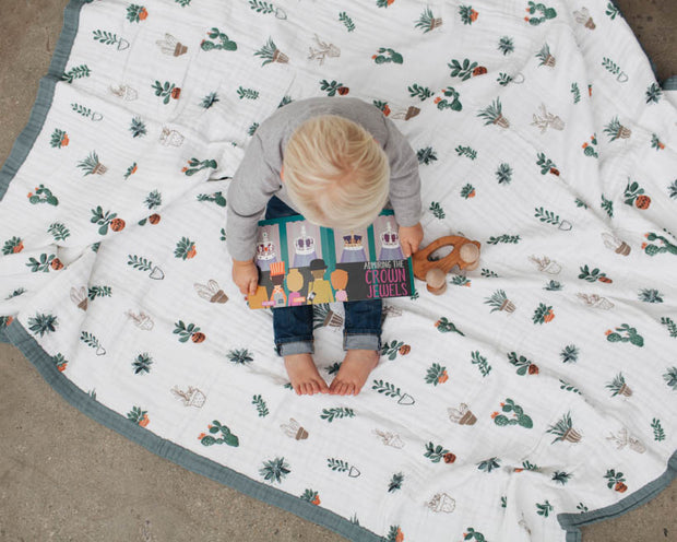 Big Kid Cotton Muslin Quilt - Prickle Pots