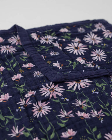 Big Kid Cotton Muslin Quilt - Dark Coneflower