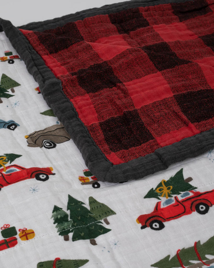 Big Kid Cotton Muslin Quilt - Holiday Haul