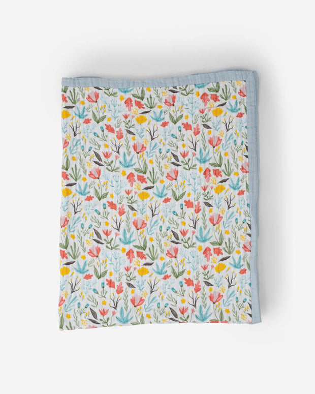 Big Kid Cotton Muslin Quilt - Meadow
