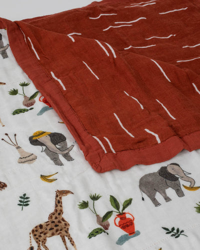 Deluxe Muslin Quilt Big Kid - Safari Social