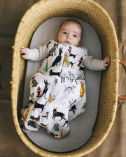 Cotton Muslin Sleep Bag - Woof