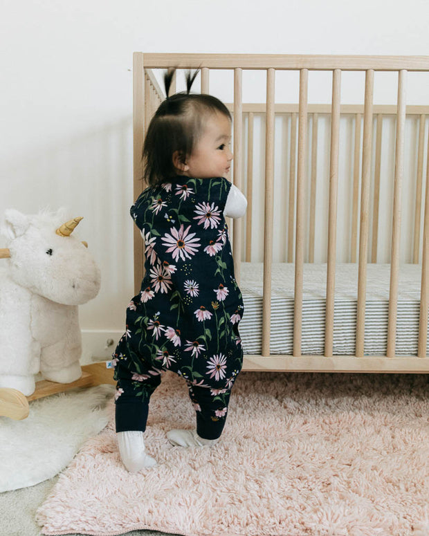 Cotton Muslin Sleep Romper - Dark Coneflower